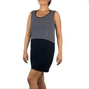 Akris Punto Navy Striped Knit Tunic Top Size Large